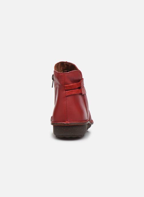 Botines  Arima pour Elle Vogue Rojo vista lateral derecha