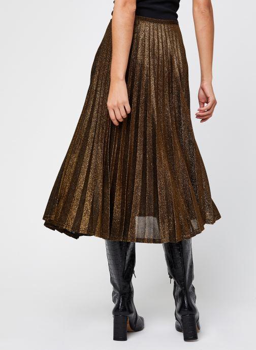 Vêtements School Rag Juliette Or et bronze vue portées chaussures