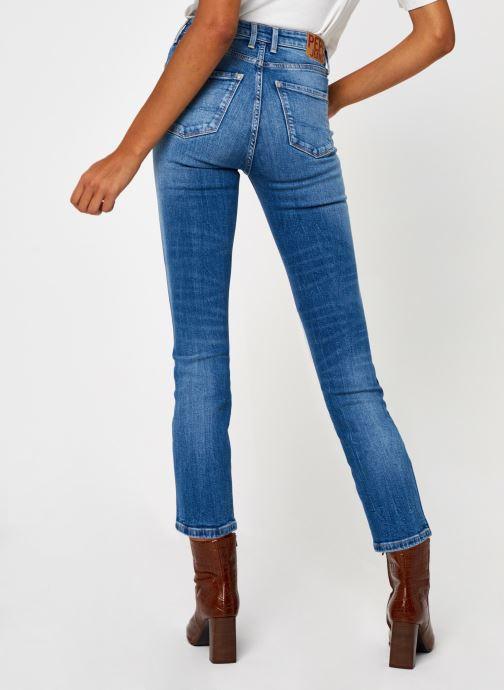 Vêtements Pepe jeans Dion 7/8 Bleu vue portées chaussures