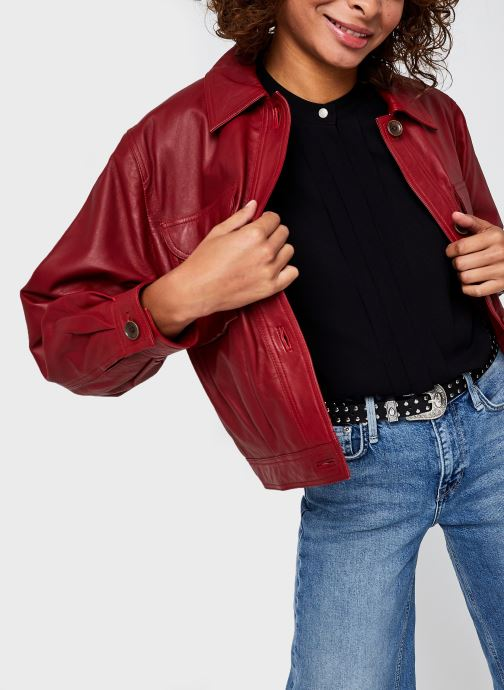 Kleding Pepe jeans Lena Rood detail