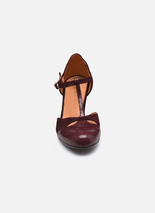 Escarpins Chie Mihara KUNA37 Bordeaux vue portées chaussures