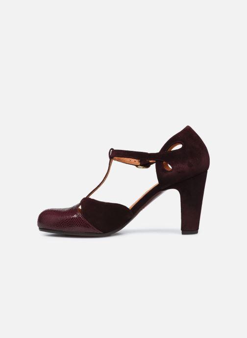 Zapatos de tacón Chie Mihara KUNA37 Vino vista de frente
