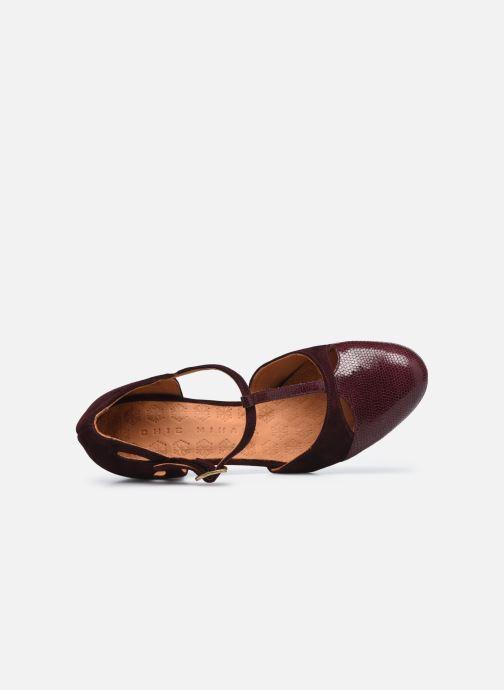 Zapatos de tacón Chie Mihara KUNA37 Vino vista lateral izquierda