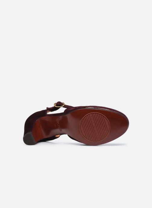 Zapatos de tacón Chie Mihara KUNA37 Vino vista de arriba