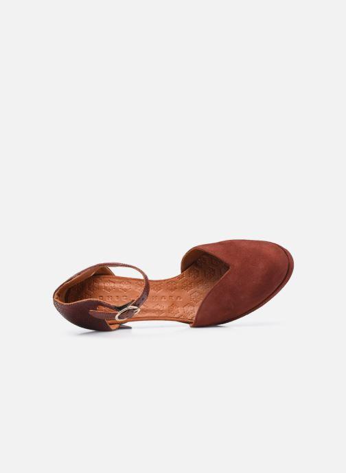 Zapatos de tacón Chie Mihara JO-MAHO37 Marrón vista lateral izquierda