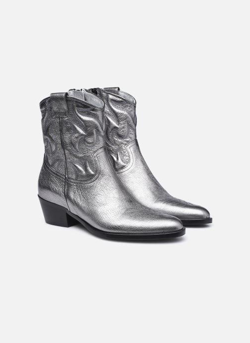 Bottines et boots Free Lance JANE 5 WESTERN ZIP BOOT Argent vue 3/4