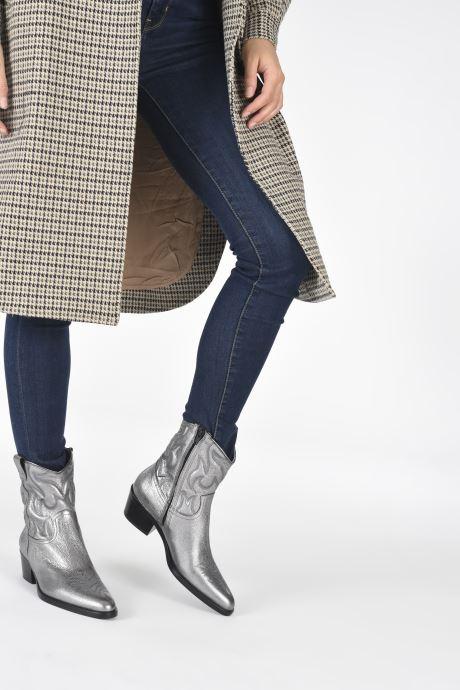Stiefeletten & Boots Free Lance JANE 5 WESTERN ZIP BOOT silber ansicht von unten / tasche getragen