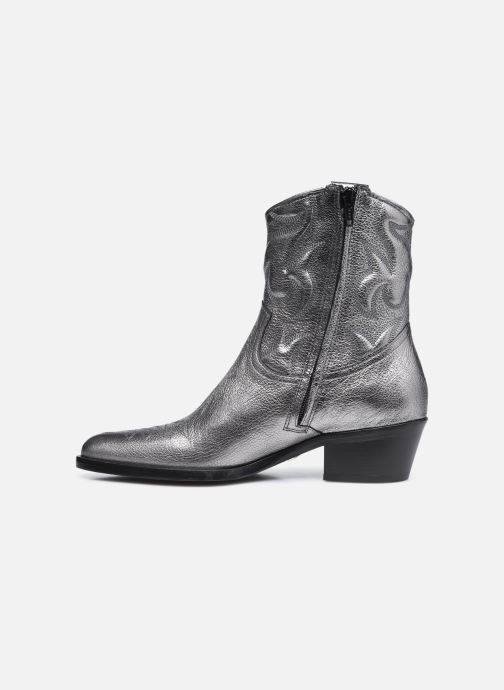 Bottines et boots Free Lance JANE 5 WESTERN ZIP BOOT Argent vue face