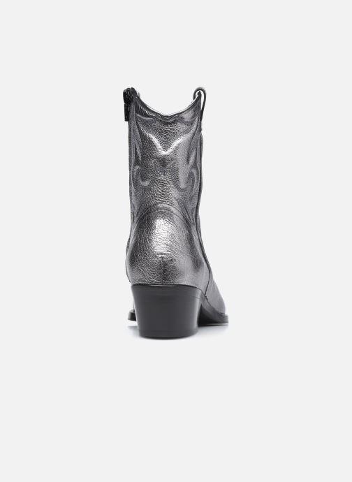 Stiefeletten & Boots Free Lance JANE 5 WESTERN ZIP BOOT silber ansicht von rechts