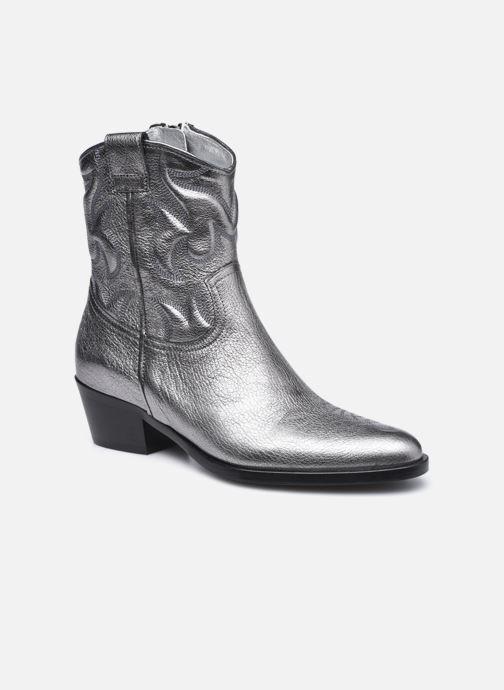 Bottines et boots Free Lance JANE 5 WESTERN ZIP BOOT Argent vue détail/paire
