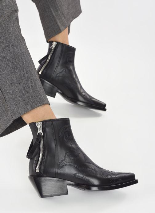 Stiefeletten & Boots Free Lance CALAMITY 4 DOUBLE ZIP schwarz ansicht von unten / tasche getragen