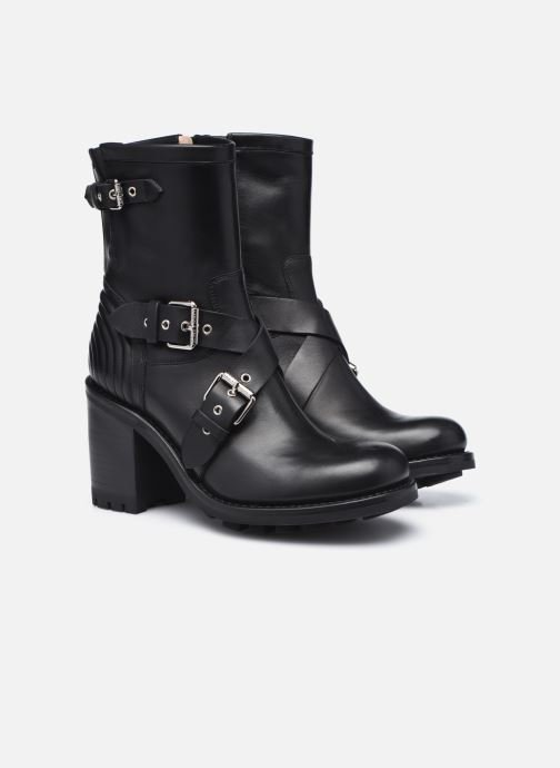 Bottines et boots Free Lance JUSTY 9 CROSS BUCKLE Noir vue 3/4