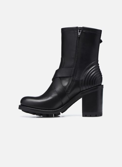 Bottines et boots Free Lance JUSTY 9 CROSS BUCKLE Noir vue face