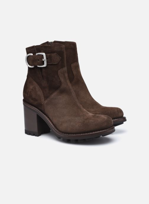 Bottines et boots Free Lance JUSTY 9 SMALL GERO Marron vue 3/4