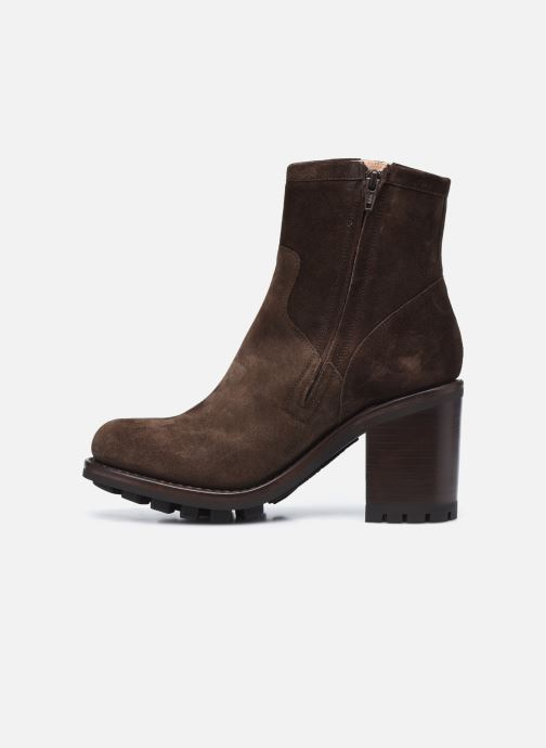 Bottines et boots Free Lance JUSTY 9 SMALL GERO Marron vue face