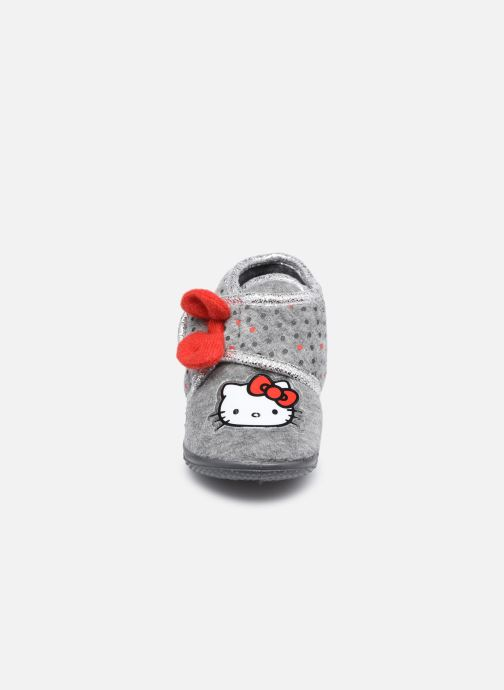 Chaussons Hello Kitty Hk Angine Gris vue portées chaussures