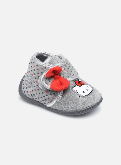 Chaussons Hello Kitty Hk Angine Gris vue détail/paire