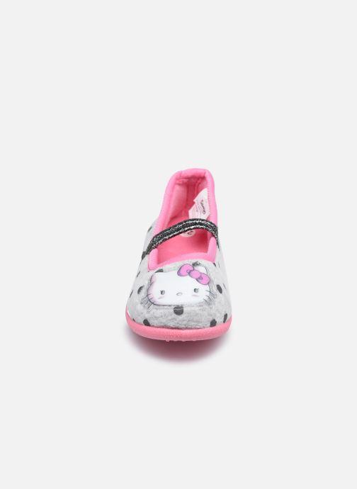 Chaussons Hello Kitty Hk Cerina Gris vue portées chaussures