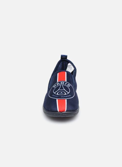 Hausschuhe PSG Carvin blau schuhe getragen