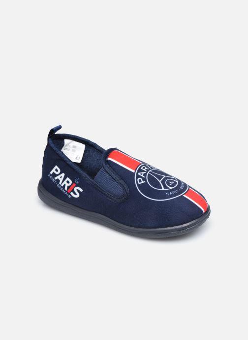 Pantuflas PSG Carvin Azul vista de detalle / par