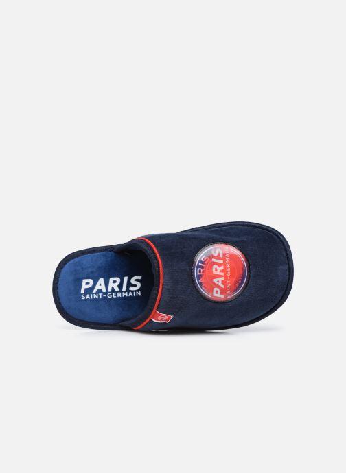 Pantuflas PSG Cergy Azul vista lateral izquierda