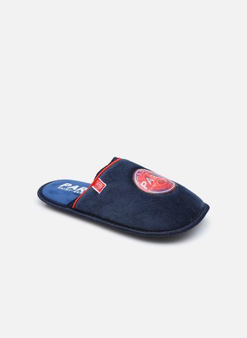 Pantuflas PSG Cergy Azul vista de detalle / par