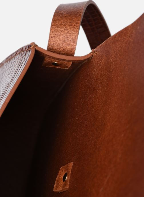 Borse Herbert Frère Soeur Sab Medium Croco Batiste Marrone immagine posteriore