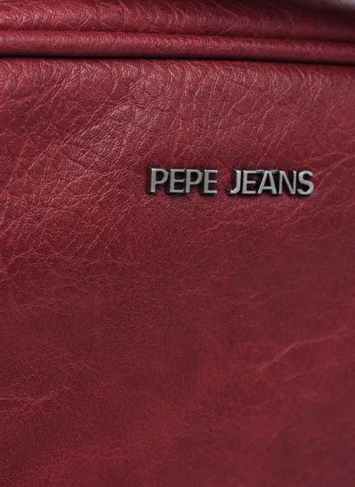 Handtaschen Pepe jeans Angela weinrot ansicht von links