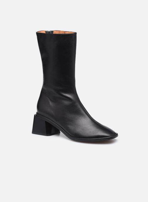 Boots en enkellaarsjes Clergerie TARA Zwart detail