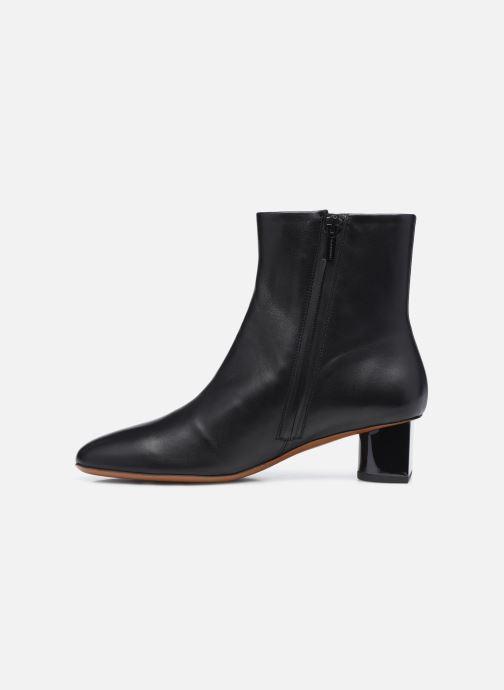 Boots en enkellaarsjes Clergerie PAIGE Zwart voorkant