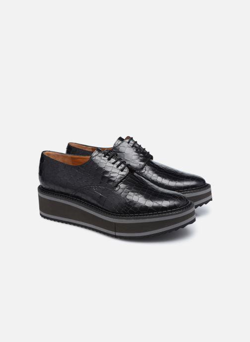 Zapatos con cordones Clergerie BROOK Negro vista 3/4