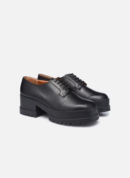 Zapatos con cordones Clergerie WONIE LIGHT Negro vista 3/4
