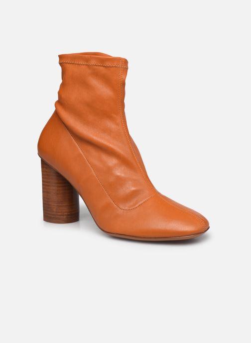Boots en enkellaarsjes Clergerie JONASE STRETCH Bruin detail