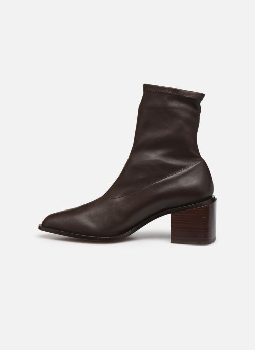 Bottines et boots Clergerie XYA STRETCH Marron vue face