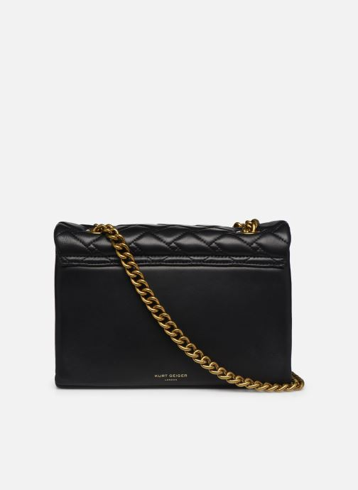 Handtassen Kurt Geiger LEATHER KENSINGTON X BAG Zwart voorkant