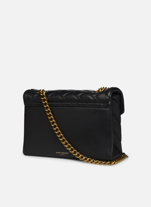 Handtassen Kurt Geiger LEATHER KENSINGTON X BAG Zwart rechts