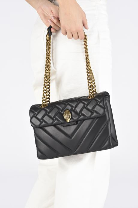Handtassen Kurt Geiger LEATHER KENSINGTON X BAG Zwart onder