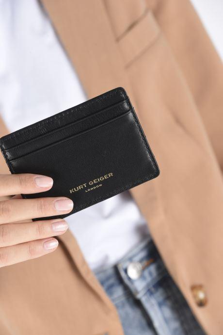 Petite Maroquinerie Kurt Geiger CARD HOLDER Noir vue bas / vue portée sac