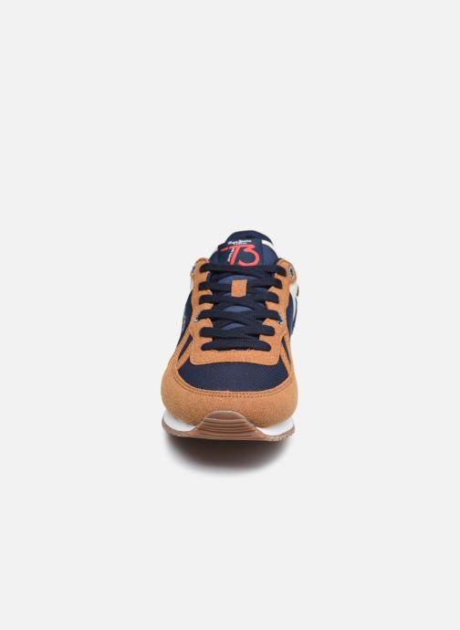 Baskets Pepe jeans Sydney Combi Boy Aw20 Marron vue portées chaussures