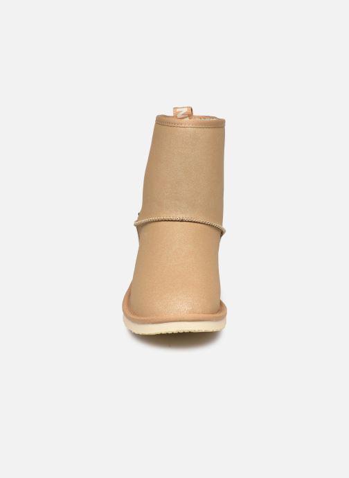 Bottes Pepe jeans Angel Shiny Or et bronze vue portées chaussures