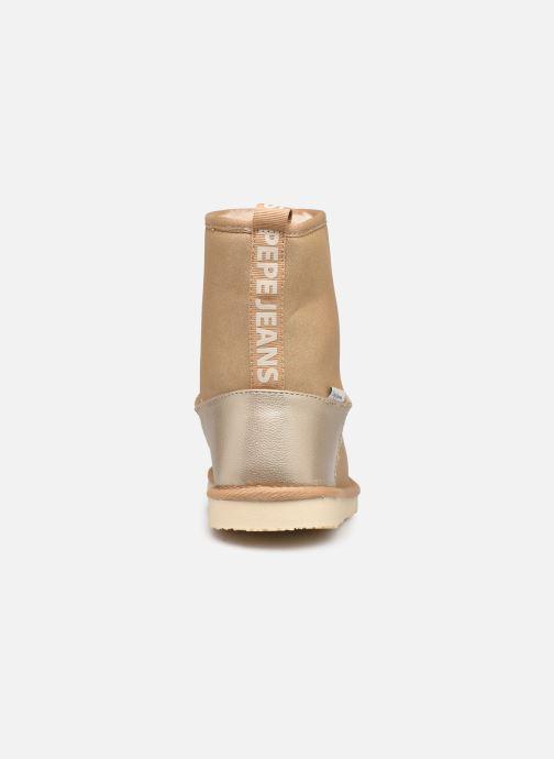 Bottes Pepe jeans Angel Shiny Or et bronze vue droite