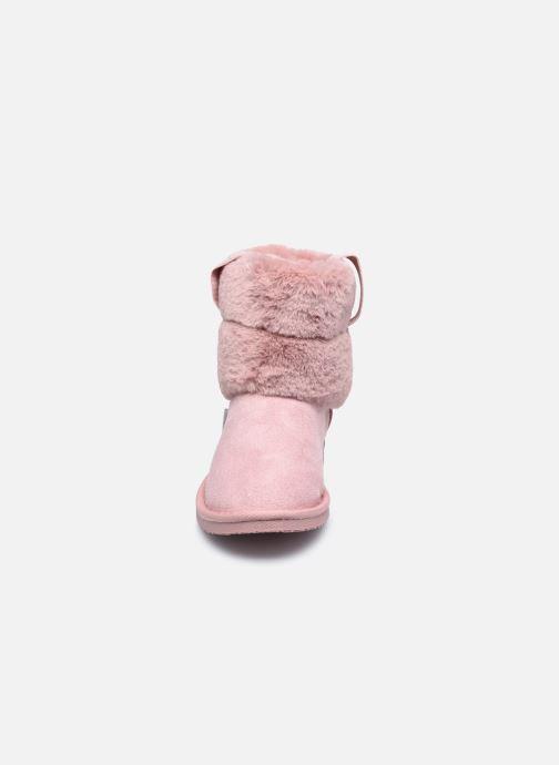 Bottes Pepe jeans Angel Plush Rose vue portées chaussures