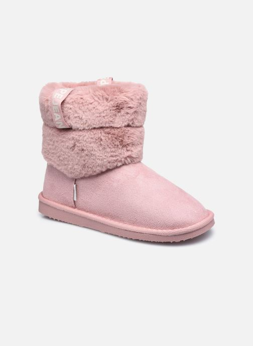 Bottes Pepe jeans Angel Plush Rose vue détail/paire