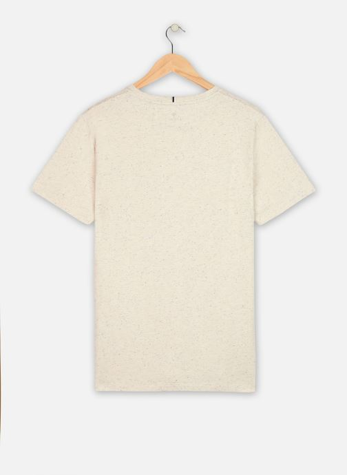 Vêtements Faguo Olonne T-Shirt Neps Blanc vue portées chaussures