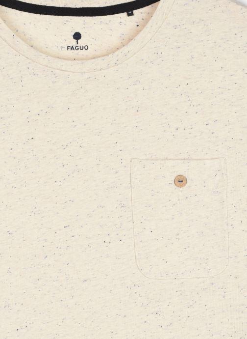 Vêtements Faguo Olonne T-Shirt Neps Blanc vue face