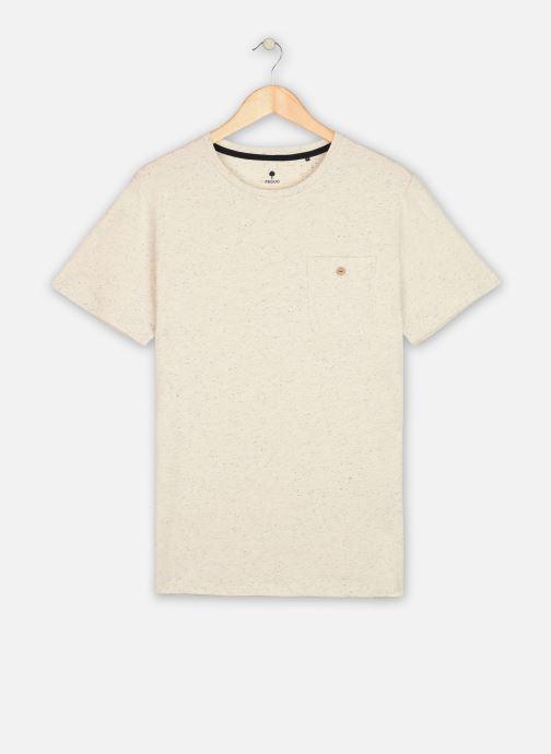 Vêtements Faguo Olonne T-Shirt Neps Blanc vue détail/paire