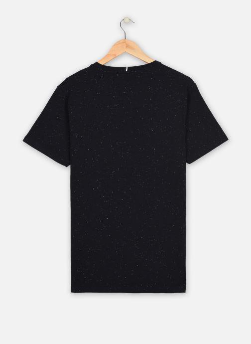 Vêtements Faguo Olonne T-Shirt Neps Bleu vue portées chaussures
