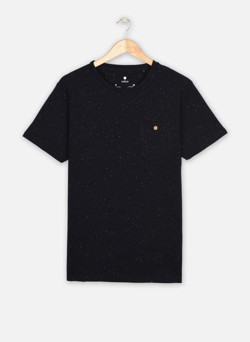 Vêtements Faguo Olonne T-Shirt Neps Bleu vue détail/paire