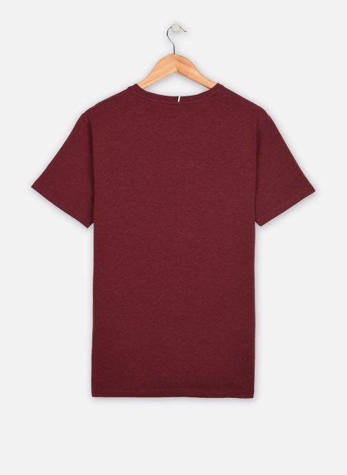 Vêtements Faguo Olonne T-Shirt Neps Bordeaux vue portées chaussures