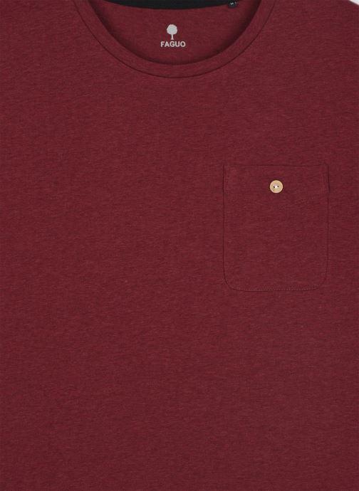 Vêtements Faguo Olonne T-Shirt Neps Bordeaux vue face